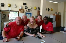 These photos of Adele visiting firefighters from London's Grenfell Tower are just lovely