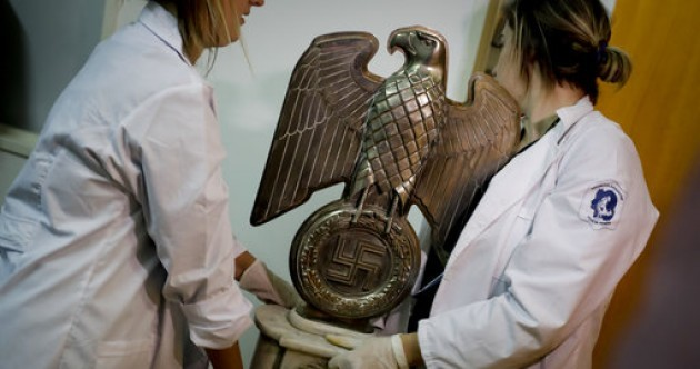 Massive haul of Nazi artifacts found in hidden room near Buenos Aires