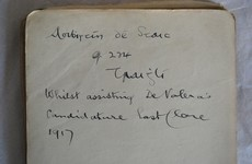 The signatures of Collins, Griffith and Markievicz are all in this book (but Eamon de Valera's is not)