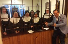 Holy Moses! This photo of Marty Morrissey visiting a heap of nuns in Carlow is truly the most Irish photo ever