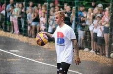 A huge crowd flocked to Dublin's Bushy Park when Justin Bieber turned up to play basketball