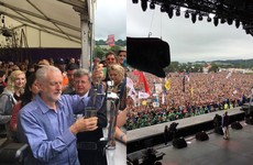 Jeremy Corbyn pulled pints at Glastonbury before making an epic speech on the Pyramid Stage