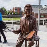 A statue of the late Terry Wogan was unveiled in Limerick today