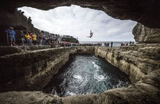 Some of the best shots from yesterday's Red Bull Cliff Diving on stunning Inis Mór