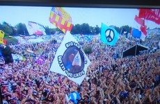 A 'bag of cans' flag at Glastonbury proves definitively that it's become the meme of 2017