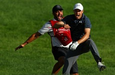 Spieth had fun going 'nuts' after draining bunker shot