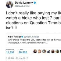 A Labour MP delivered the most savage burn to Nigel Farage on Twitter after he complained about the BBC