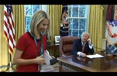 Americans are apologising to RTÉ's Caitriona Perry after Trump told her she had a 'nice smile'