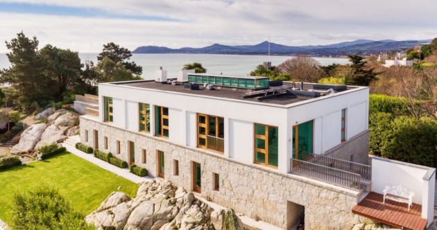 Share a driveway with Van Morrison and Eddie Irvine in this split-level Dalkey mansion