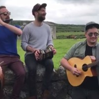 A trad band performed the Father Ted theme song outside the Father Ted house, and it was delightful