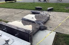 Man arrested for breaking the Ten Commandments - with his car