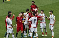 Portugal edge Mexico in heated Confederations Cup encounter