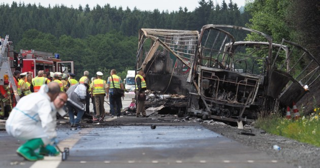 17 people unaccounted for in German bus accident
