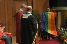 A student in Northern Ireland made a surprise statement about same-sex marriage at her graduation ceremony