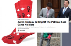 The international media have crowned Leo Varadkar as the new 'king' of the sock game