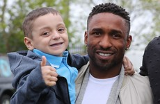 Jermain Defoe pays tearful tribute to terminally ill 'best mate' Bradley Lowery