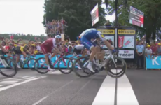 Just 0.0003 seconds split first and second at the Tour de France today