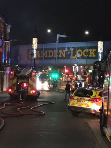 Huge fire in London's iconic Camden Lock Market