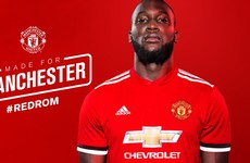 Done deal: Romelu Lukaku has officially signed for Manchester United