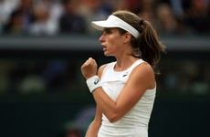 Konta sees off Halep in gripping contest to end British wait for female Wimbledon semi-finalist