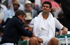 Injury forces Djokovic to retire as he joins Rafa and Murray through the Wimbledon exit
