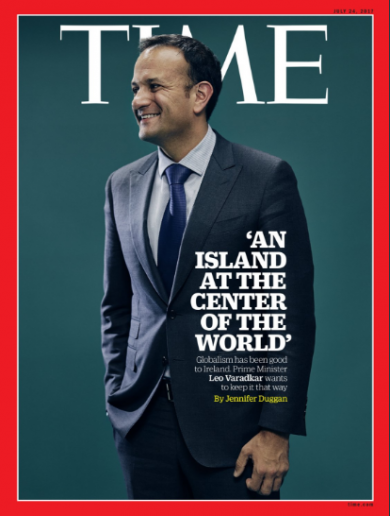 Leo Varadkar is on the cover of Time magazine