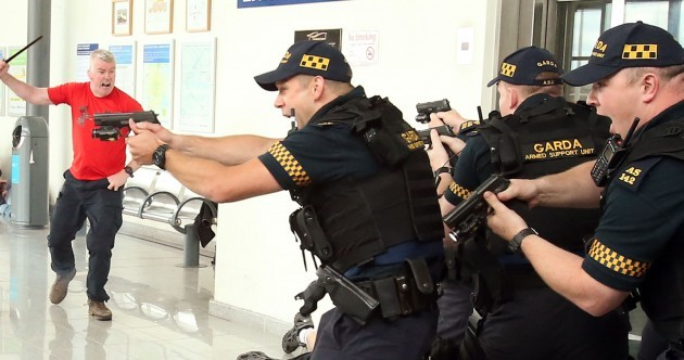 Watch: Gardaí test response to terror attack in simulation at Dublin's Docklands