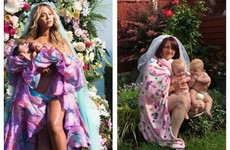 A mam in Cork recreating the Beyoncé twin photo shoot in her garden has taken over Facebook
