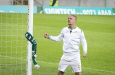 Uefa charge Celtic after Griffiths ties scarf around Linfield goalpost