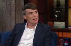 Cillian Murphy was having none of the Irish stereotypes on Stephen Colbert last night