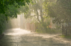 Status yellow rainfall warning issued for four counties