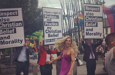This brilliant, defiant photo from yesterday's Mayo Pride perfectly sums up modern Ireland