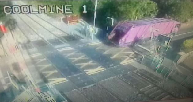 Train services delayed after bin truck damages crossing barrier
