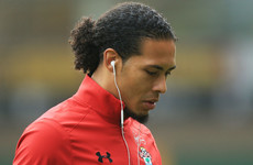Unsettled Virgil van Dijk left out of Southampton's pre-season trip to France and training alone