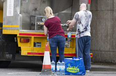 Supermarkets as far south as Dublin are being cleared out of water as shortage enters sixth day