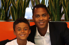 Patrick Kluivert's nine-year old son has just signed a five-year deal with Nike