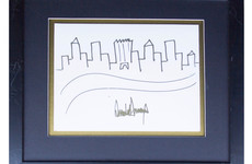 This truly terrible drawing of the New York skyline by Donald Trump sold for $30,000