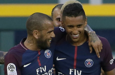 Dani Alves marked his PSG debut with a phenomenal strike as they saw off Monaco