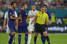 Barcelona's Rakitic claims he pushed referee after being insulted 'three times'