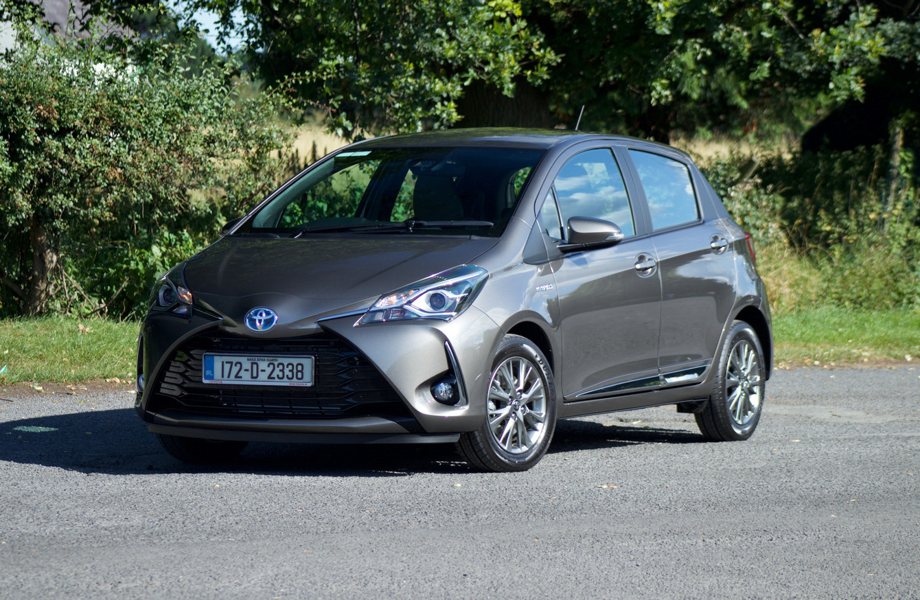 review the toyota yaris hybrid is a one of a kind small. Black Bedroom Furniture Sets. Home Design Ideas