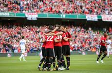 Irish fans treated to a Man United victory on their Aviva Stadium return