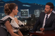Kate Beckinsale told Jimmy Kimmel that her daughter fancied him while she was in the audience... it's the Dredge