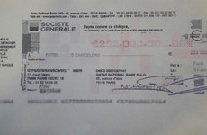 The cheque that bought Neymar for €222m?