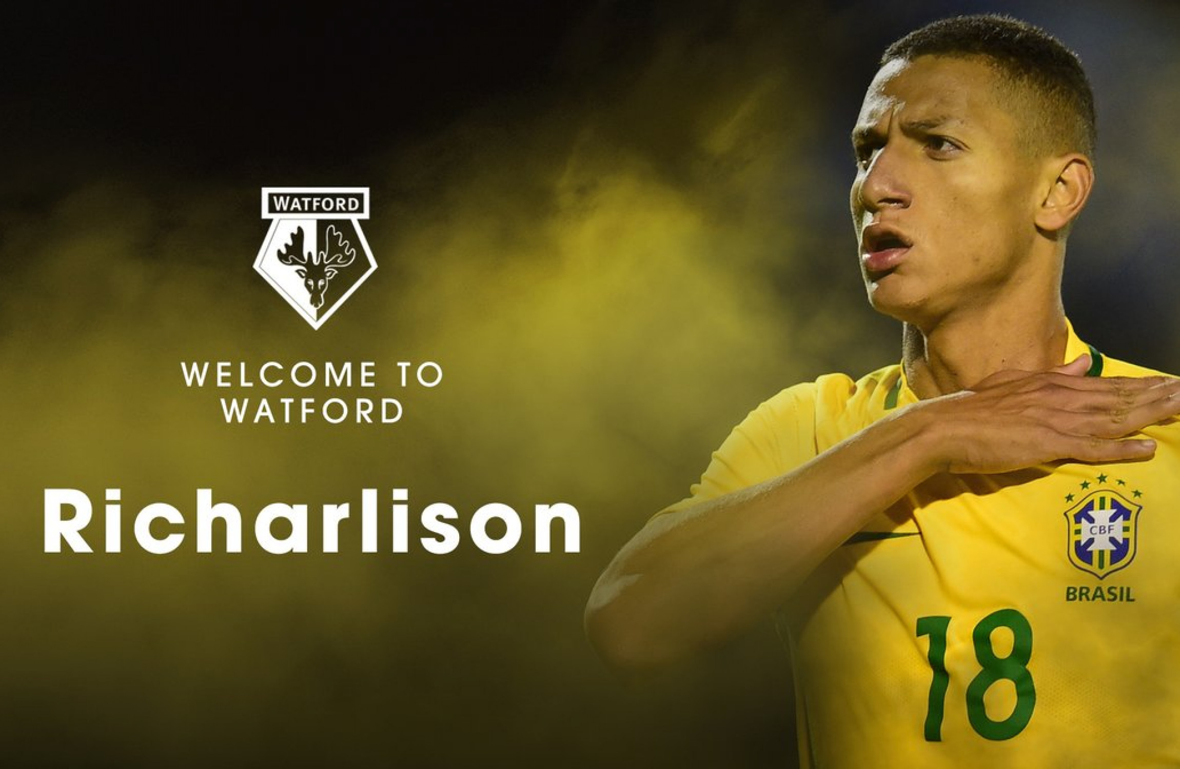 Richarlison: Watford sign Brazil Under-20 forward on five-year deal