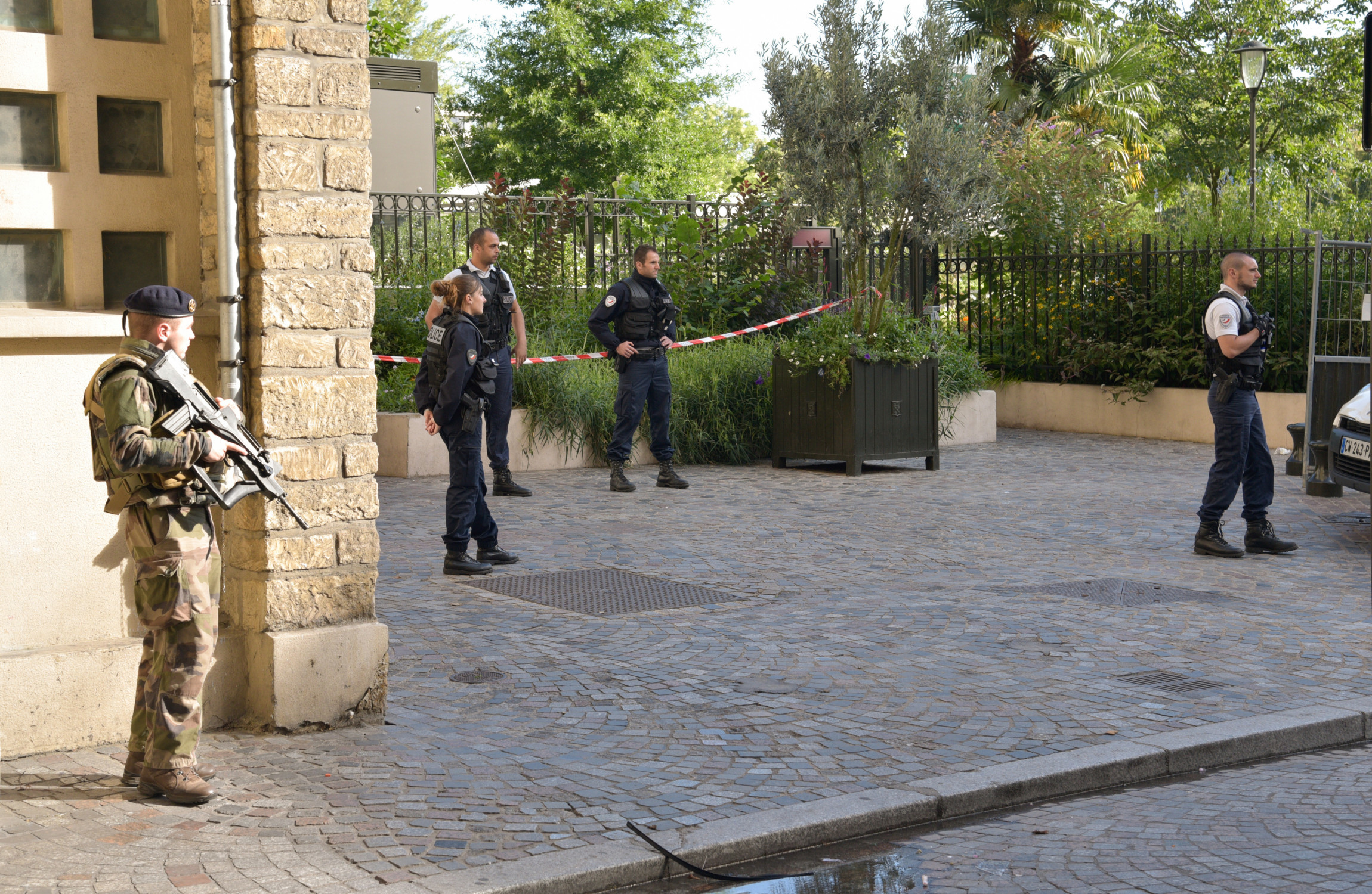 'A deliberate act': Manhunt underway after auto  injures six French soldiers
