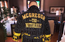 Conor McGregor was sent this bling custom-made robe as a gift by Donatella Versace
