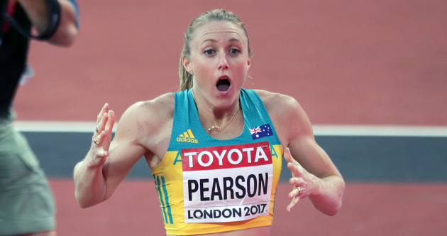Sally Pearson's face after winning the 100m hurdles gold says it all