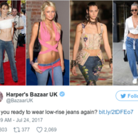 Low-rise jeans are back in fashion and absolutely nobody is here for it