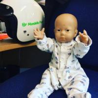 A kid's doll was left behind at a race track in Kildare and the staff had some serious craic with it