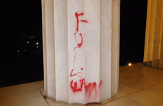 Abraham Lincoln Memorial defaced in Washington DC